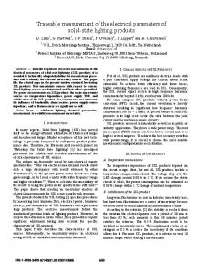 Traceable measurement of the electrical parameters of solid-state ...