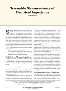 Traceable Measurements of Electrical Impedance - IEEE Xplore