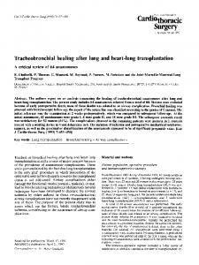 Tracheobronchial healing after lung and heart-lung transplantation