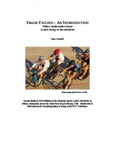 TRACK CYCLING – AN INTRODUCTION