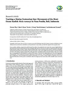 Tracking a Marine Ecotourism Star: Movements of the Short Ocean ...