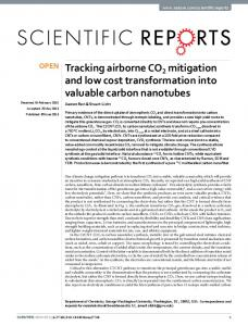 Tracking airborne CO2 mitigation and low cost