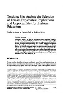 Tracking bias against the selection of female ... - Wiley Online Library