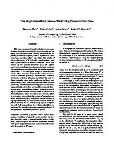 Tracking Intersection Curves of Deforming Parametric