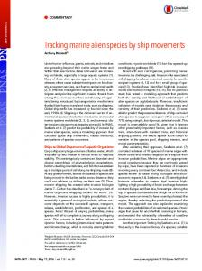 Tracking marine alien species by ship movements