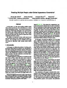 Tracking Multiple People under Global Appearance Constraints