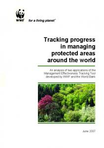 Tracking progress in managing protected areas ...