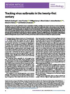 Tracking virus outbreaks in the twenty-first century