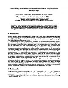 Tractability Results for the Consecutive-Ones Property with ... - CECM