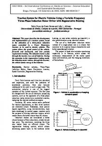 Traction System for Electric Vehicles Using a Variable Frequency ...