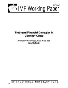 Trade and Financial Contagion in Currency Crises