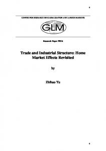 Trade and Industrial Structure: Home Market