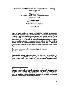 Trade and Labor Standards in the European Union: A Gravity Model