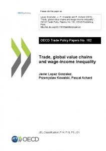 Trade, global value chains and wage-income inequality - OECD iLibrary
