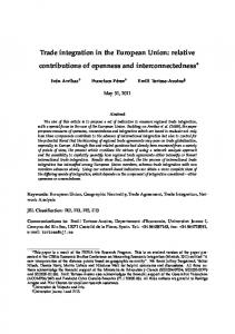 Trade integration in the European Union: relative contributions of ...