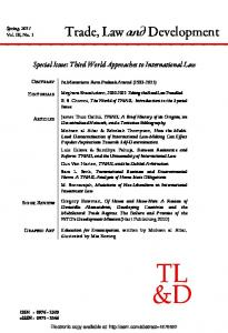 Trade, Law and Development - (SSRN) Papers