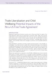Trade Liberalisation and Child Wellbeing: Potential