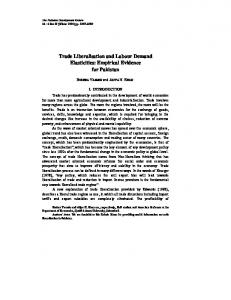 Trade Liberalisation and Labour Demand Elasticities: Empirical ...