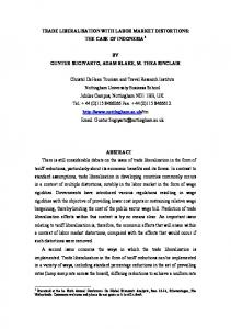 trade liberalisation with labor market distortions: the ...
