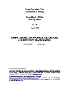 Trade Liberalization, Price Distortions, and Resource ... - Dialnet