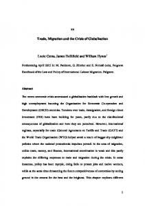 Trade, migration and the crisis of globalisation - Lucie Cerna