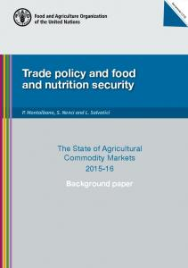 Trade policy and food and nutrition security - Food and Agriculture ...