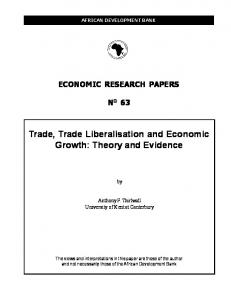 Trade, Trade Liberalisation and Economic Growth - African ...