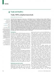 Trade, TRIPS, and pharmaceuticals