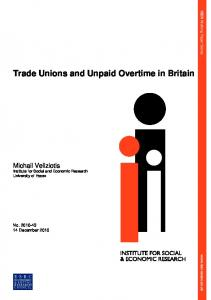 Trade Unions and Unpaid Overtime in Britain