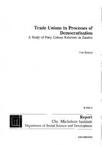 Trade Unions in Proeesses of - bibsys brage