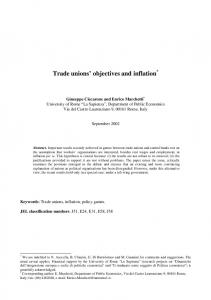 Trade unions' objectives and inflation