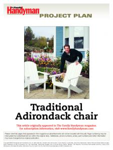 Traditional Adirondack chair