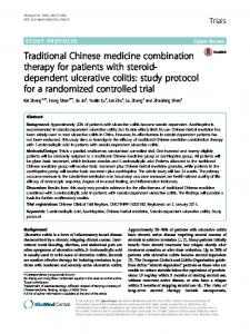 Traditional Chinese medicine combination therapy