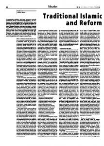 Traditional Islamic and Reform