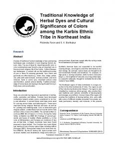 Traditional Knowledge of Herbal Dyes and Cultural Significance of ...