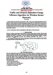 Traffic and Distance dependent Energy Efficient Algorithm for ... - IJESIT