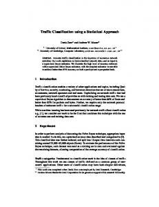Traffic Classification using a Statistical Approach - Cambridge ...