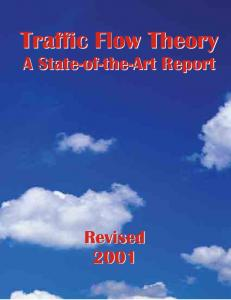Traffic Flow Theory Traffic Flow Theory