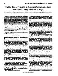 Traffic improvements in wireless communication networks using