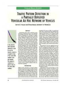 traffic pattern detection in a partially deployed vehicular ... - IEEE Xplore