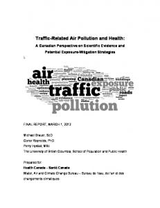 Traffic-Related Air Pollution and Health - AllerGen NCE