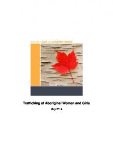 Trafficking of Aboriginal Women and Girls - Publications du ...