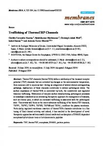 Trafficking of ThermoTRP Channels - BioMedSearch