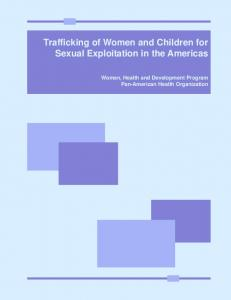 Trafficking of Women and Children for Sexual Exploitation in the ...