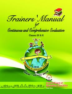 Trainers' Manual - Central Board of Secondary Education