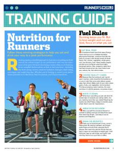 Training Guide, Nutrition for Runners