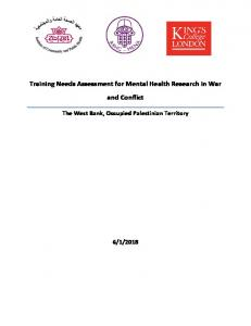 Training Needs Assessment for Mental Health Research in War and