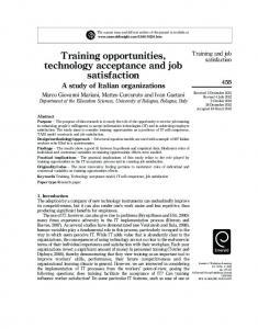 Training opportunities, technology acceptance and job satisfaction