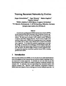 Training Recurrent Neural Networks by Evolino - Idsia