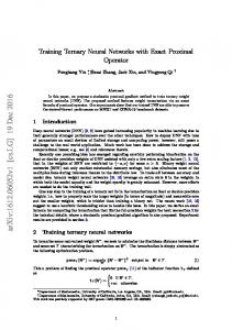 Training Ternary Neural Networks with Exact Proximal Operator